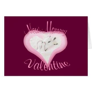 Carte Valentine-Nouvelle maman de chèvre