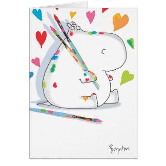 Carte Valentines d'ARTISTE d'HIPPOPOTAME par Boynton