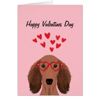 Carte Valentines de teckel de Doxie - chien à cheveux