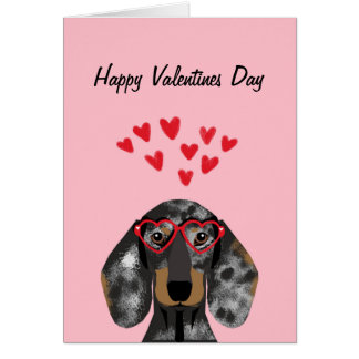 Carte Valentines de teckel de Doxie - le double
