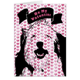 Carte Valentines - silhouette anglaise d'antan de chien