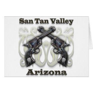 Carte Vallée bronzage Arizona - revolvers de San