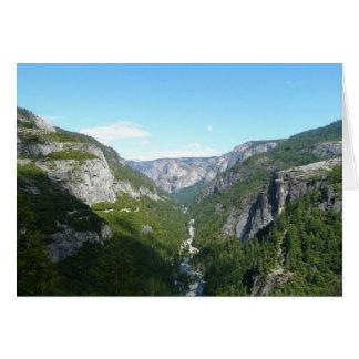 Carte Vallée de Yosemite en parc national de Yosemite
