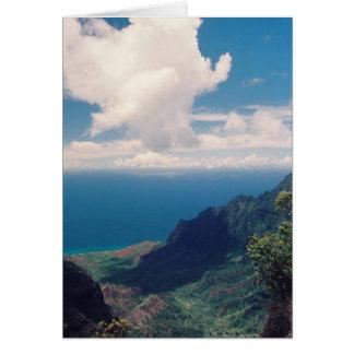 Carte Vallée stupéfiante de Kalalau, île de Kauai