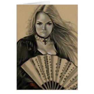 Carte Vampiress Dia de los Muertos Card