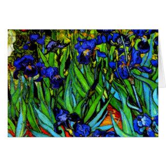 Carte Van Gogh - iris, peinture de Vincent van Gogh