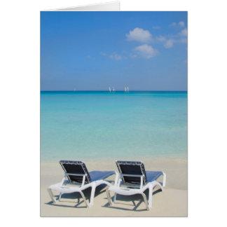 Carte Varadero, Cuba. Chaises de sable et de plage