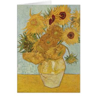 Carte Vase avec 12 tournesols - Vincent van Gogh (1888)