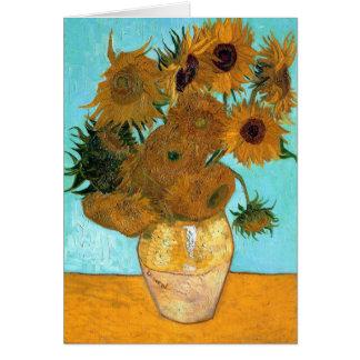 Carte Vase avec douze tournesols par Vincent van Gogh