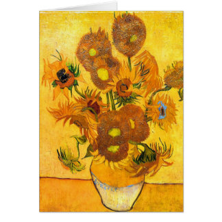 Carte Vase avec quinze tournesols par Vincent van Gogh