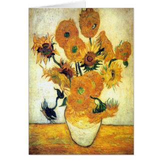 Carte Vase avec quinze tournesols par Vincent van Gogh 1