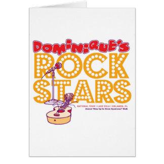 Carte Vedettes du rock de Dominique