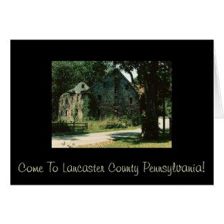 Carte Venez au comté de Lancaster Pennsylvanie