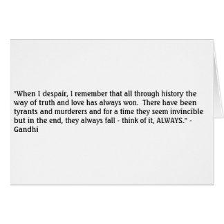 Carte Vérité de Gandhi