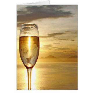 Carte verre de champagne