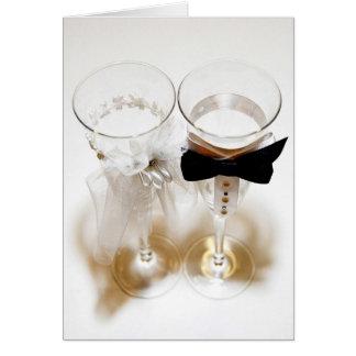Carte Verres les épousant cérémonieux de Champagne
