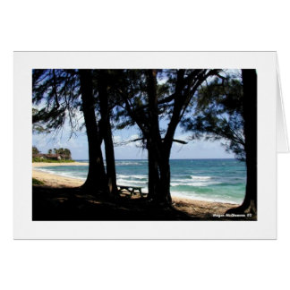 Carte Vers le bas sur la plage