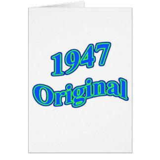 Carte Vert 1947 bleu original