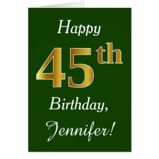 Carte Vert, anniversaire d'or de Faux quarante-cinquième