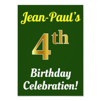 Carte Vert, célébration d'anniversaire d'or de Faux 4ème