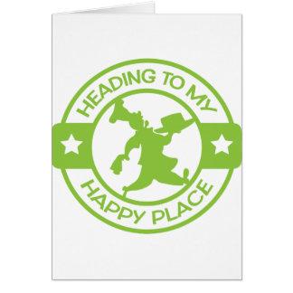 Carte Vert de chaux heureux de chef de pâtisserie de