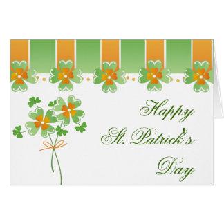 Carte Vert et orange de Jour de la Saint Patrick