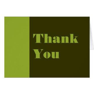 Carte Vert olive de Merci