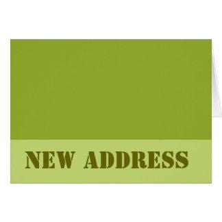 Carte Vert olive de nouvelle adresse