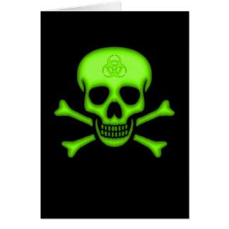 Carte verte de crâne de Biohazard