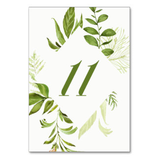 Carte verte sauvage du numéro 11 de Tableau de