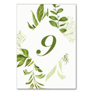 Carte verte sauvage du numéro 9 de Tableau de