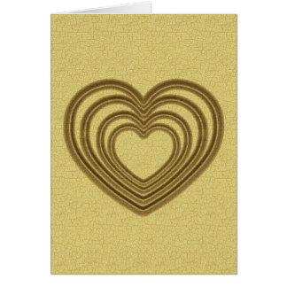 Carte Verticale d'ondulation de coeur d'or
