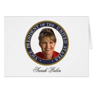 Carte Vice-président Sarah Palin
