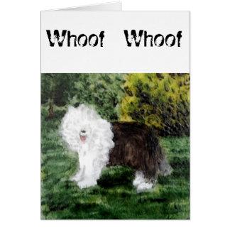 Carte Vieil art anglais de chien de berger