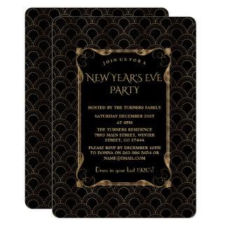 Carte Vieille partie noire de nouvelle année de