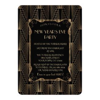 Carte Vieille partie noire romantique de nouvelle année