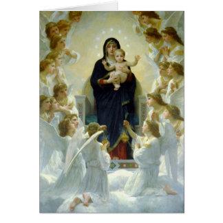 Carte Vierge avec des anges - William-Adolphe Bouguereau