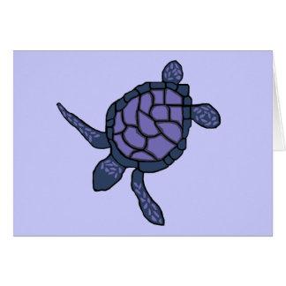 carte vierge Bleuâtre-pourpre de tortue de mer de