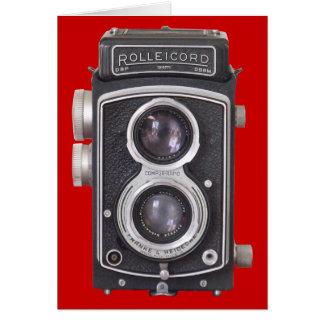 Carte vierge d'appareil-photo vintage