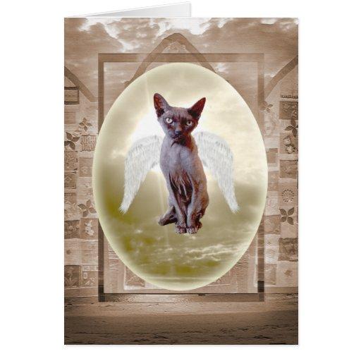 Carte vierge de chat d'ange