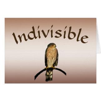 Carte vierge de faucon indivisible de Brown