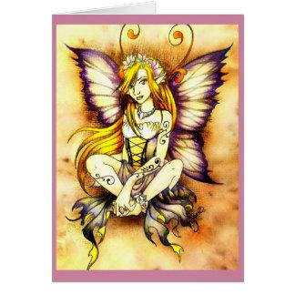 Carte vierge de fée de fleur