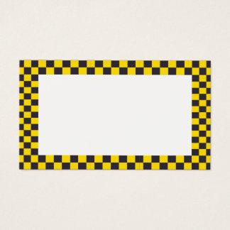 Carte vierge de frontière Checkered