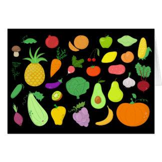 Carte vierge de note de fruits et légumes