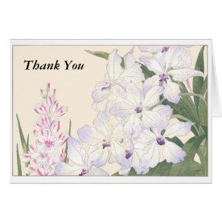 Carte vierge de note de Merci avec l'enveloppe