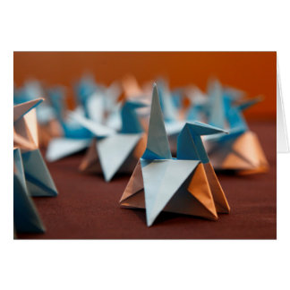 Carte vierge de note d'origami