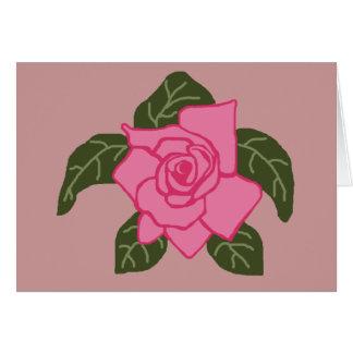 Carte vierge de tortue de mer de rose de rose