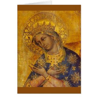Carte vierge de Vierge Marie