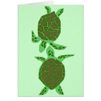 Carte vierge en bon état de tortues de mer d'amour