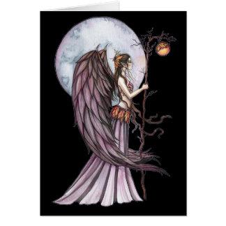 Carte vierge féerique de lune gothique d'automne